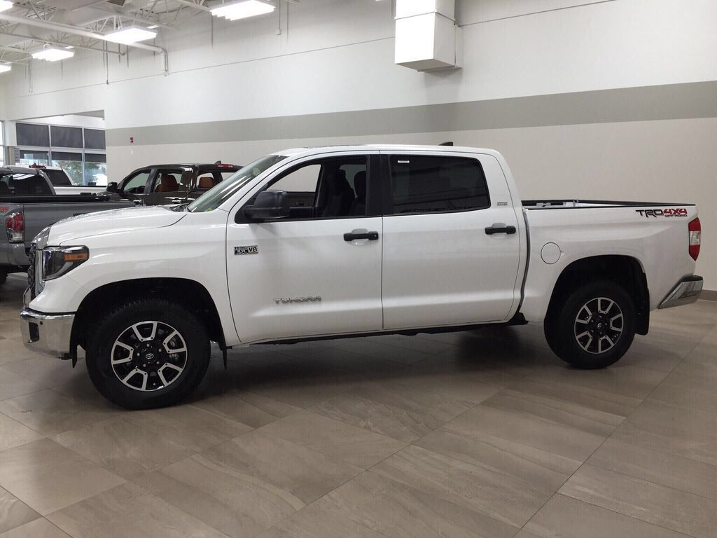 White[Super White] 2021 Toyota Tundra TRD Off-Road Left Side Photo in Sherwood Park AB
