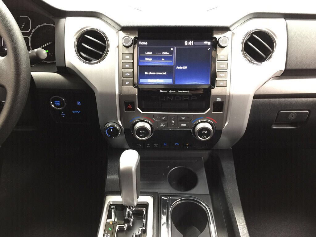 White[Super White] 2021 Toyota Tundra TRD Off-Road Central Dash Options Photo in Sherwood Park AB