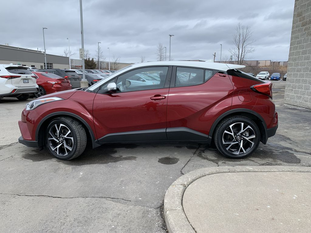Red 2018 Toyota C-HR Left Front Rim and Tire Photo in Brampton ON