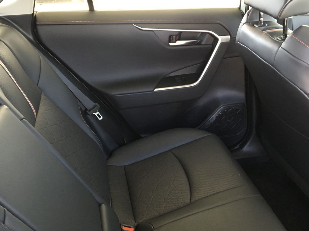 Gray[Lunar Rock/Ice Edge Roof] 2021 Toyota RAV4 Left Rear Interior Door Panel Photo in Kelowna BC