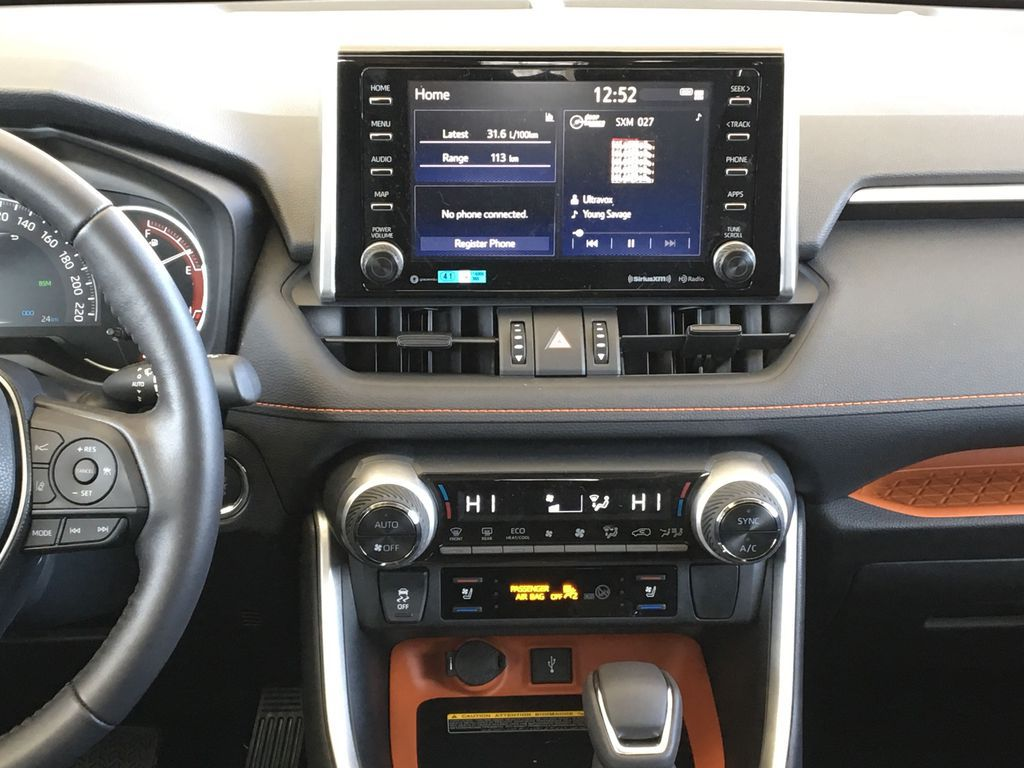 Gray[Lunar Rock/Ice Edge Roof] 2021 Toyota RAV4 Central Dash Options Photo in Kelowna BC