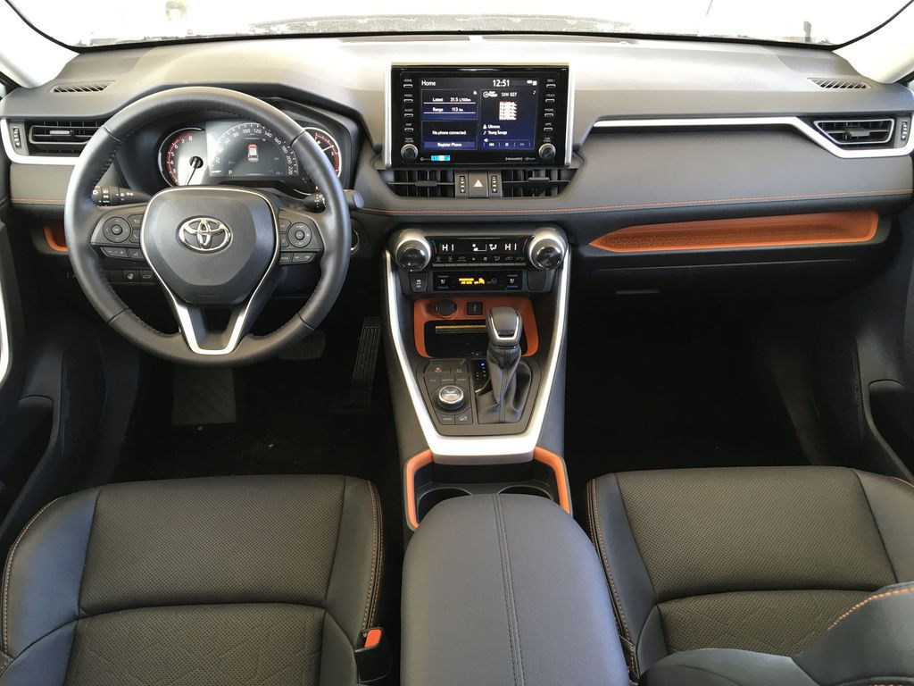 Gray[Lunar Rock/Ice Edge Roof] 2021 Toyota RAV4 Main Interior Photo in Kelowna BC