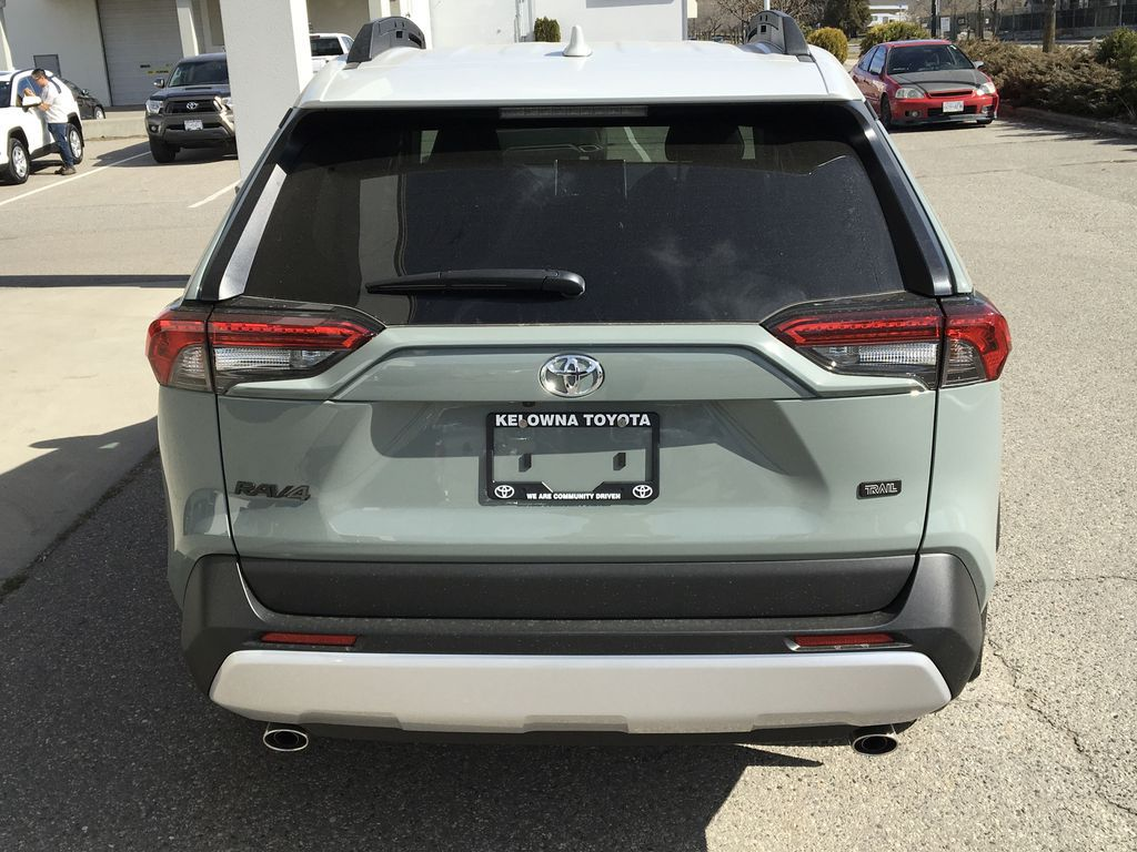 Gray[Lunar Rock/Ice Edge Roof] 2021 Toyota RAV4 Rear of Vehicle Photo in Kelowna BC