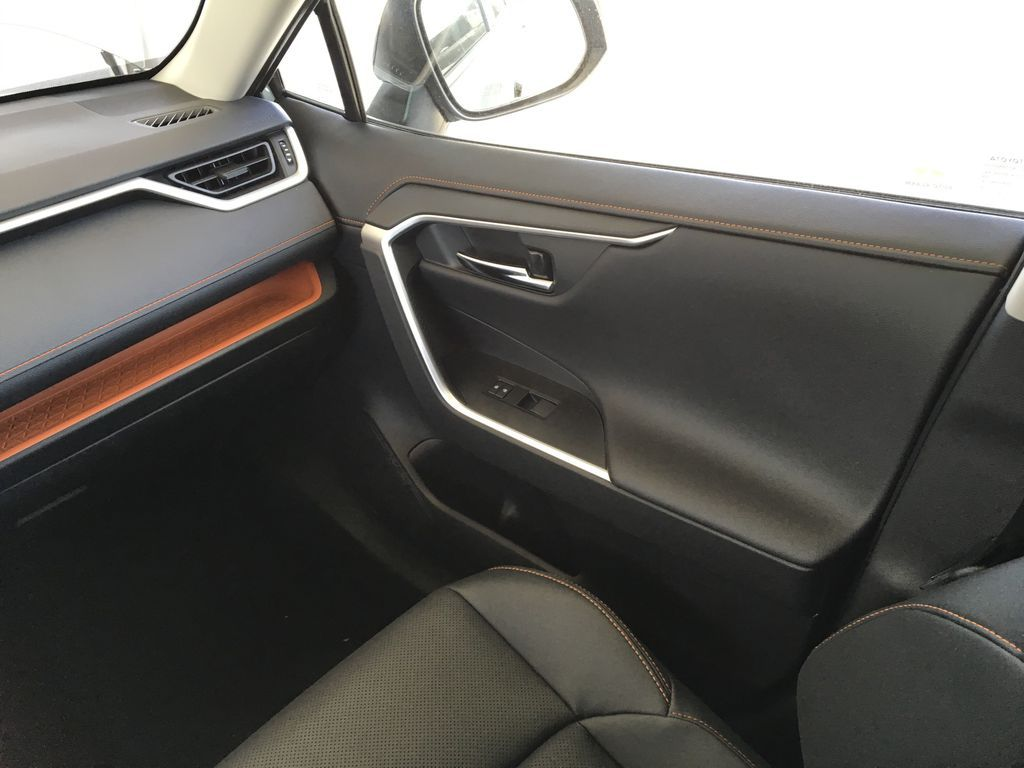 Gray[Lunar Rock/Ice Edge Roof] 2021 Toyota RAV4 Right Front Interior Door Panel Photo in Kelowna BC