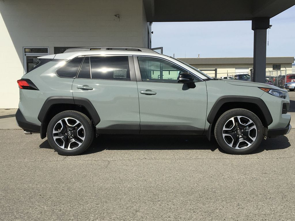 Gray[Lunar Rock/Ice Edge Roof] 2021 Toyota RAV4 Right Side Photo in Kelowna BC
