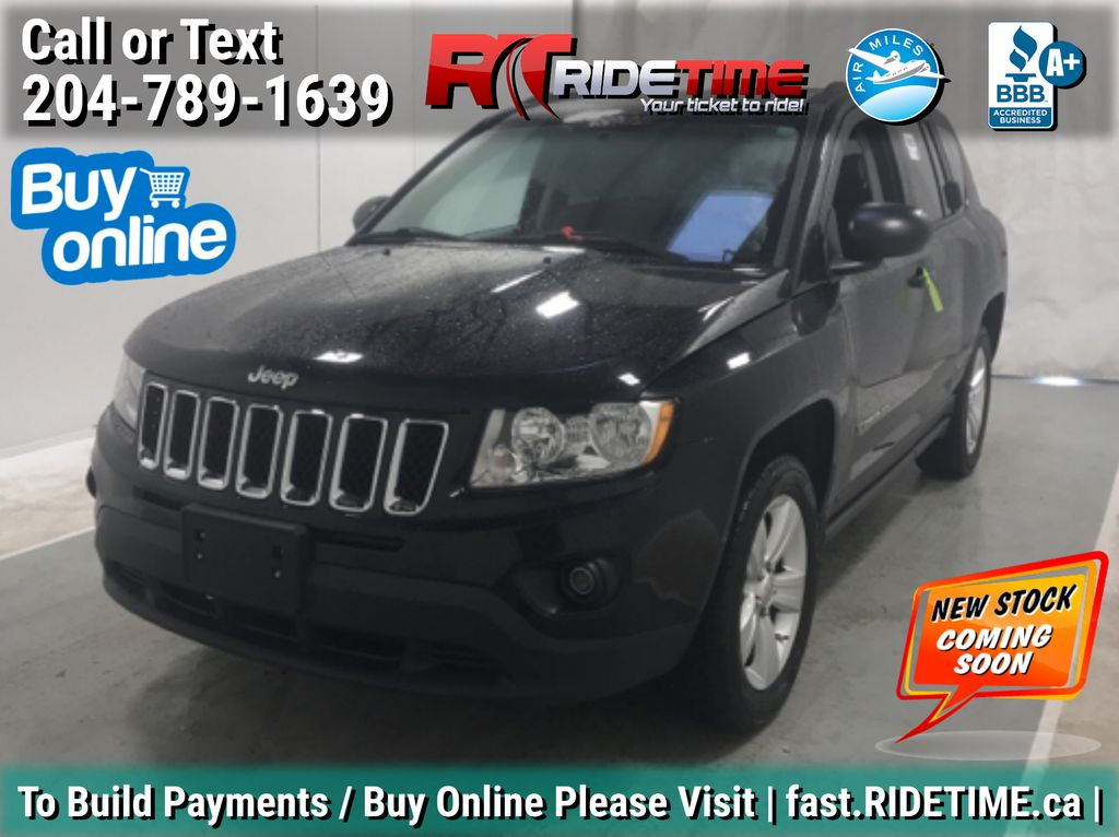 Black[Black] 2012 Jeep Compass North 4WD - Automatic, Heated Seats. Cruise Control