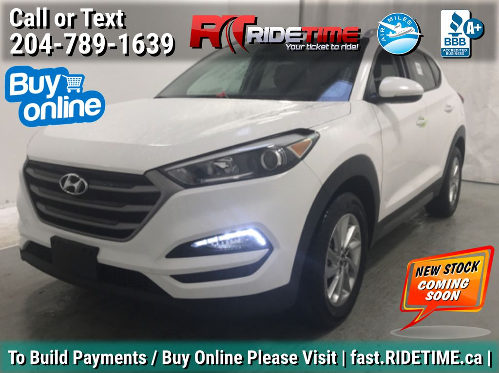White[Winter White] 2016 Hyundai Tucson Premium AWD - 2.0L, Heated Seats, Backup Camera