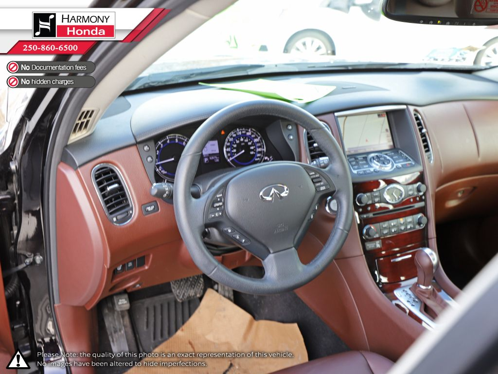 Black - Black Obsidian 2015 INFINITI QX50 Technology Package Right Side Front Seat  Photo in Kelowna BC