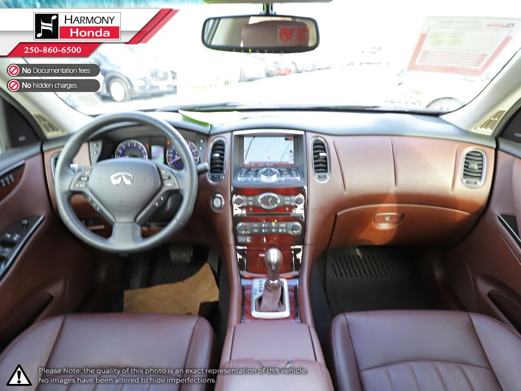 Black - Black Obsidian 2015 INFINITI QX50 Technology Package Sunroof Photo in Kelowna BC