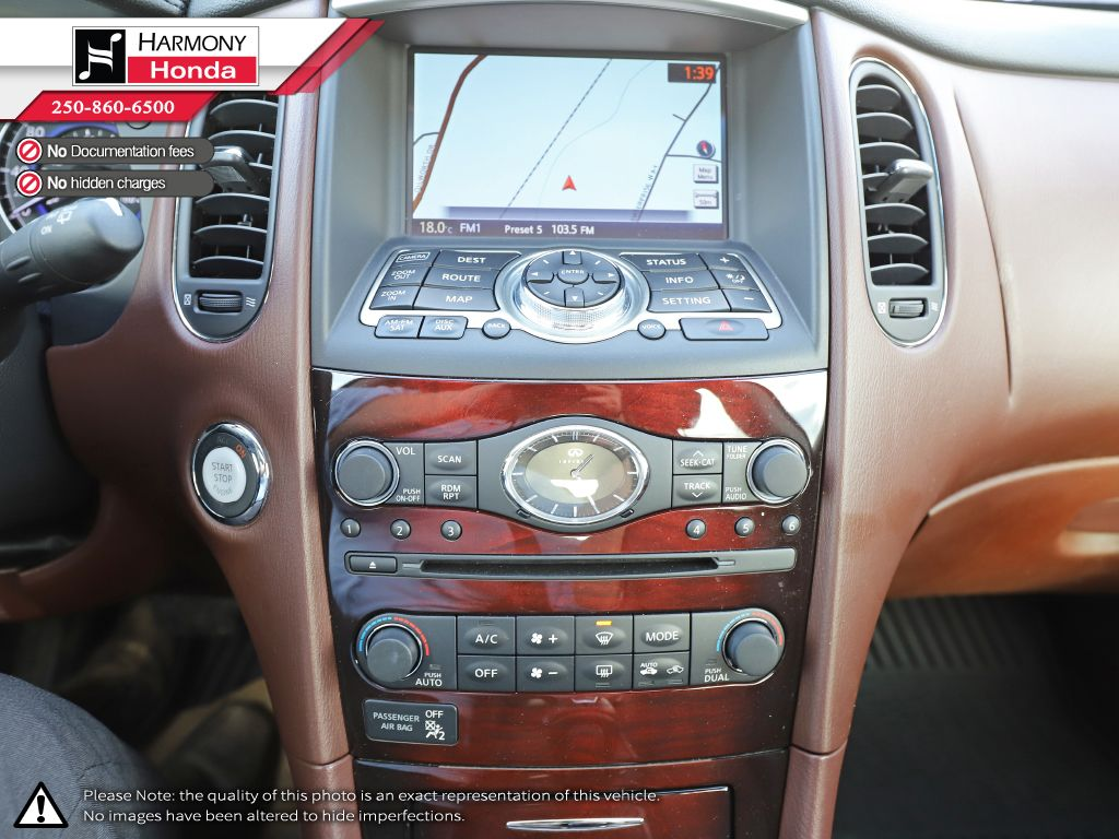 Black - Black Obsidian 2015 INFINITI QX50 Technology Package Central Dash Options Photo in Kelowna BC