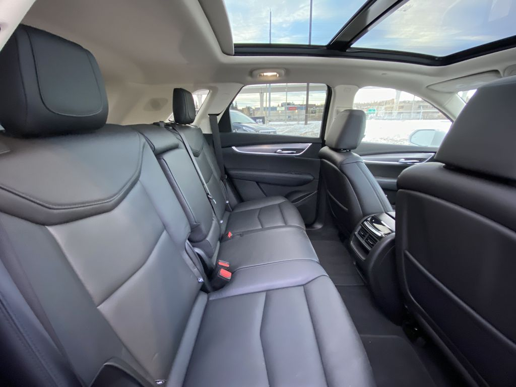 White[Crystal White Tricoat] 2019 Cadillac XT5 Luxury Right Side Rear Seat  Photo in Calgary AB