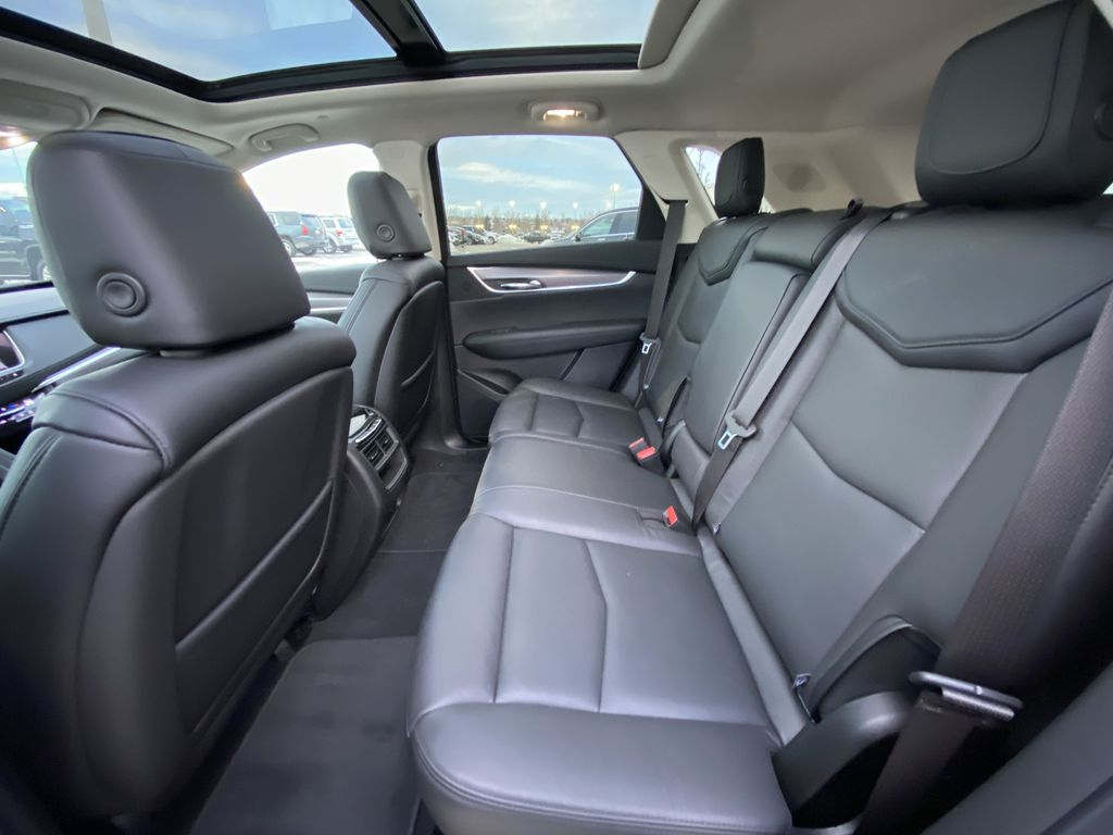 White[Crystal White Tricoat] 2019 Cadillac XT5 Luxury Left Side Rear Seat  Photo in Calgary AB