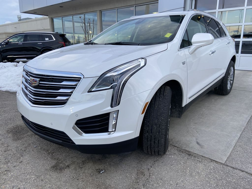 White[Crystal White Tricoat] 2019 Cadillac XT5 Luxury Left Front Head Light / Bumper and Grill in Calgary AB