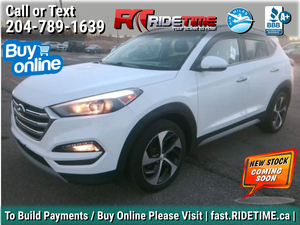 White[Winter White] 2017 Hyundai Tucson SE AWD - Sunroof, Leather, Backup Camera