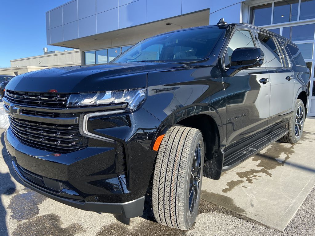 Black[Black] 2021 Chevrolet Suburban RST Left Front Head Light / Bumper and Grill in Calgary AB