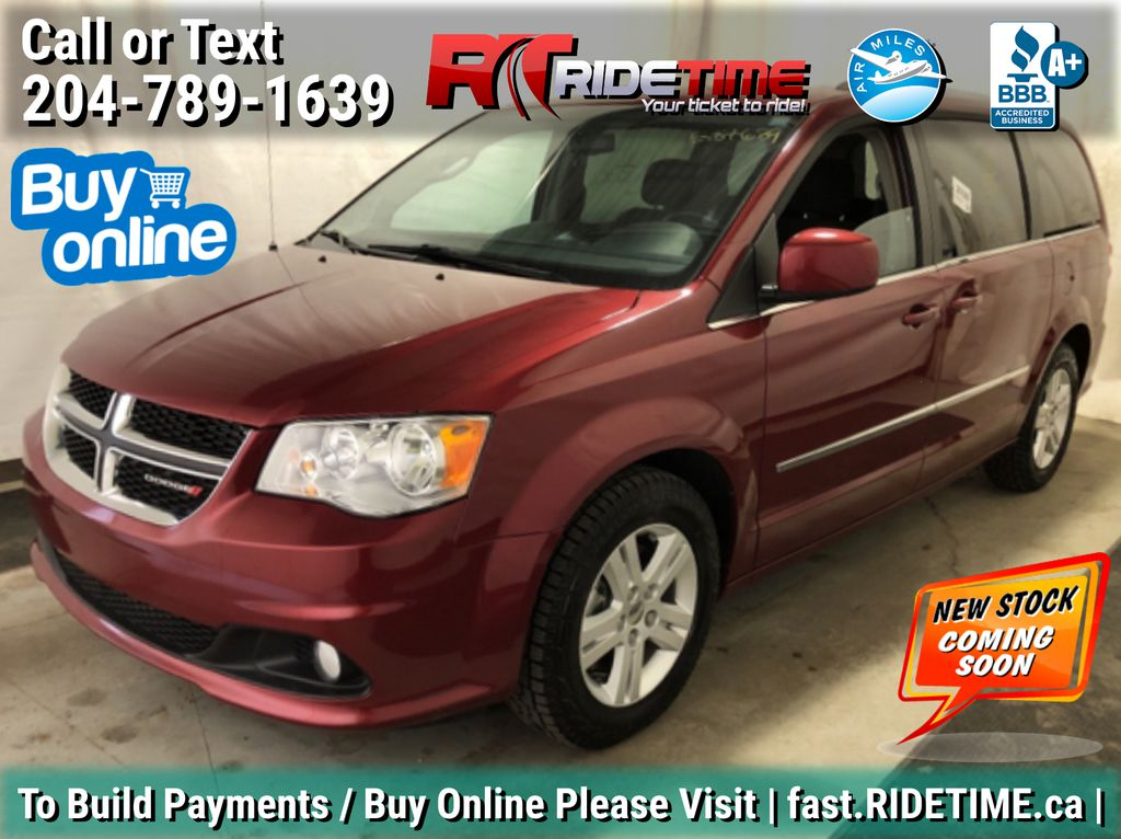 Red[Deep Cherry Red Crystal Pearl] 2016 Dodge Grand Caravan Crew - RARE w/ DVD. NAV, Pwr Doors/Liftgate