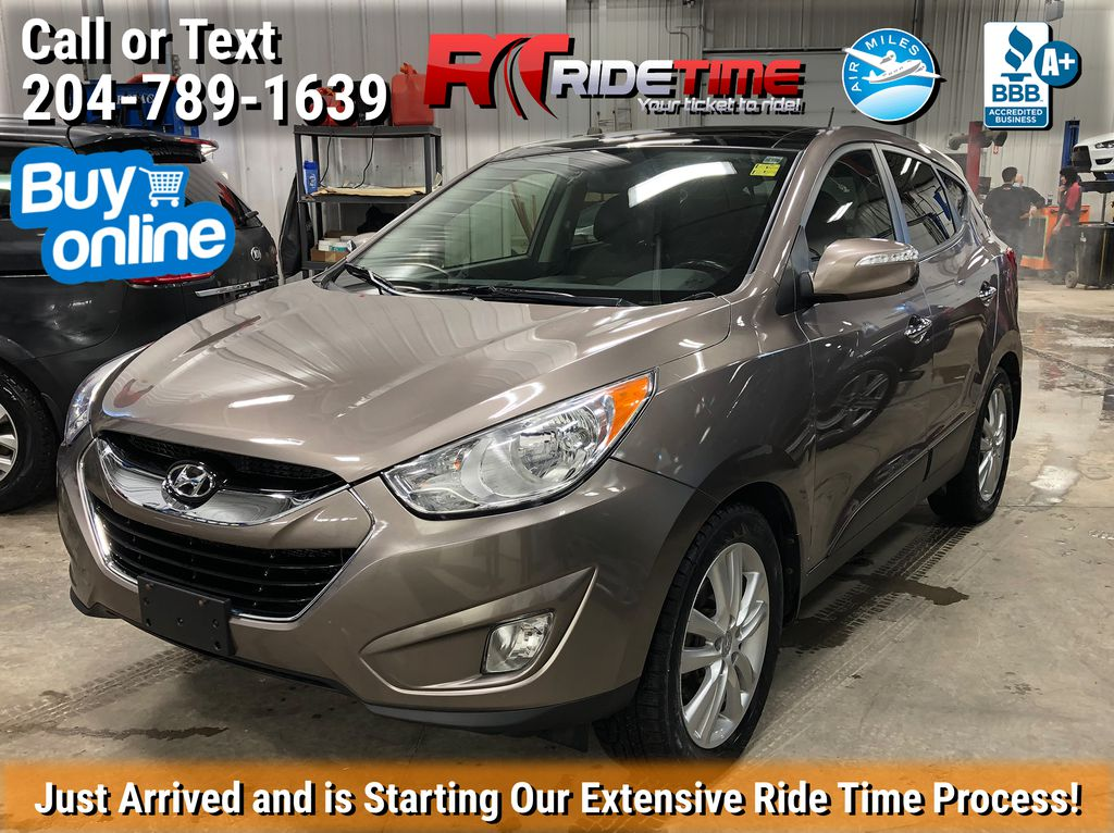 Brown 2011 Hyundai Tucson Limited AWD - SUPER LOW KMs, Leather, Sunroof