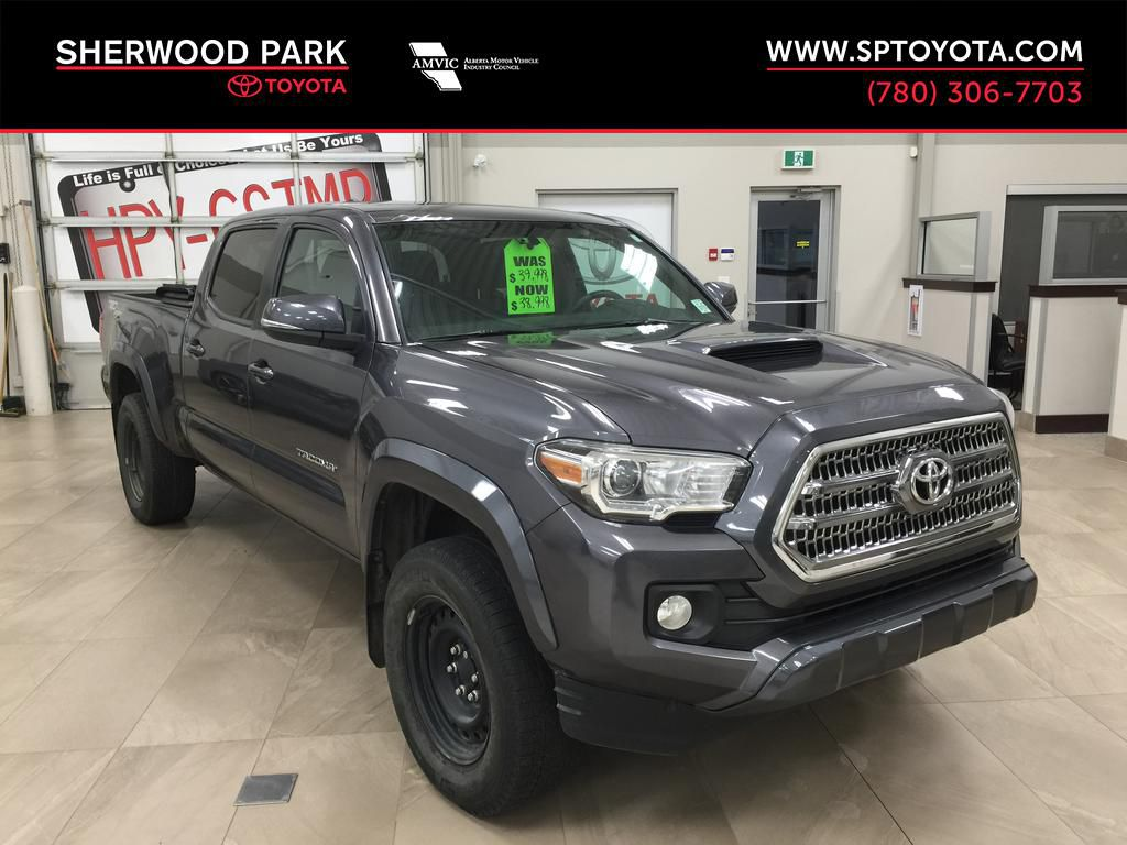 Gray 2017 Toyota Tacoma TRD Sport Double cab 4x4
