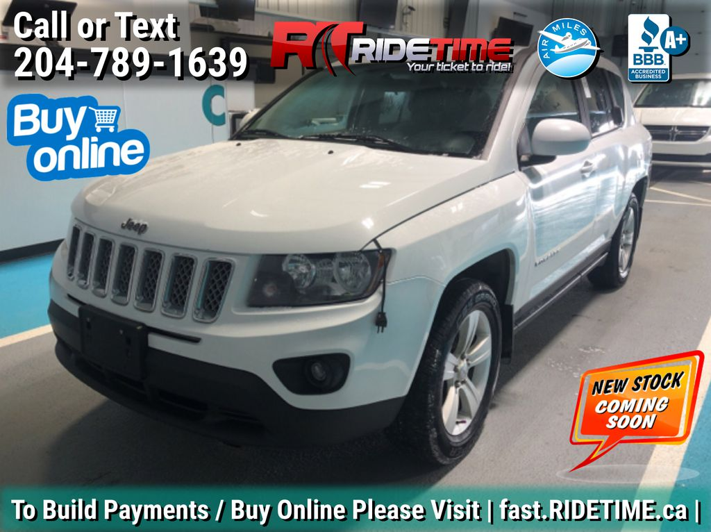 White[Bright White Clearcoat] 2014 Jeep Compass North 4WD - Auto, Alloy Wheels, Cruise Control