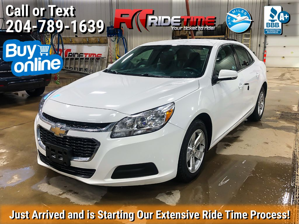 White[Summit White] 2016 Chevrolet Malibu Limited LT - SiriusXM, ALL CREDIT APPROVED