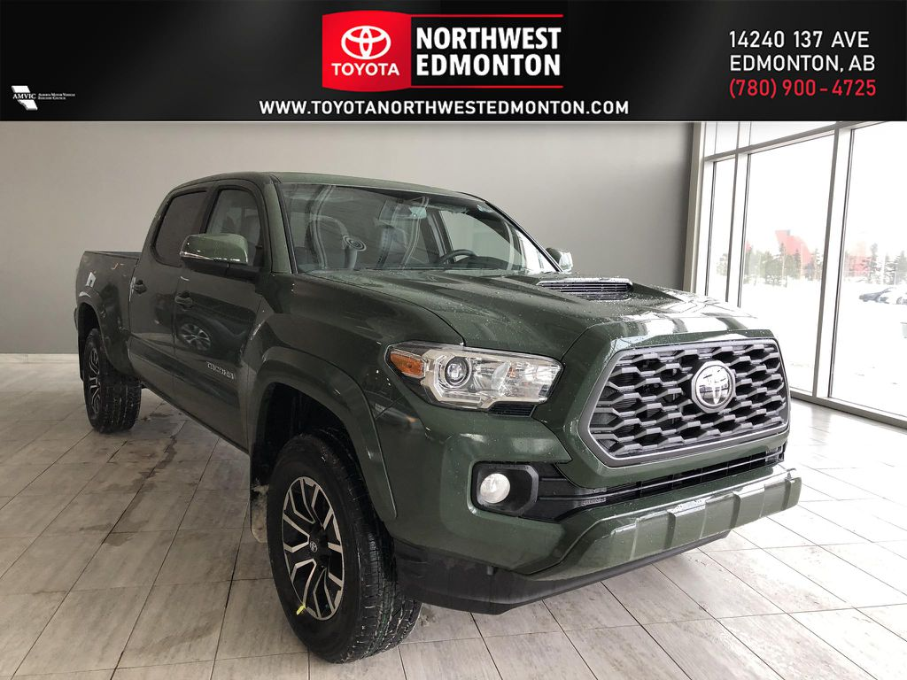 Army Green 2021 Toyota Tacoma 4WD Double Cab TRD Sport Premium