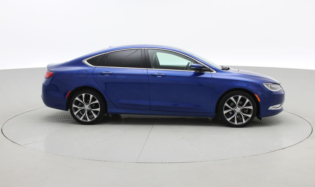 Blue[Vivid Blue Pearl] 2015 Chrysler 200 C - Leather, Panoramic Roof, Adaptive Cruise, SiriusXM Right Side Photo in Winnipeg MB