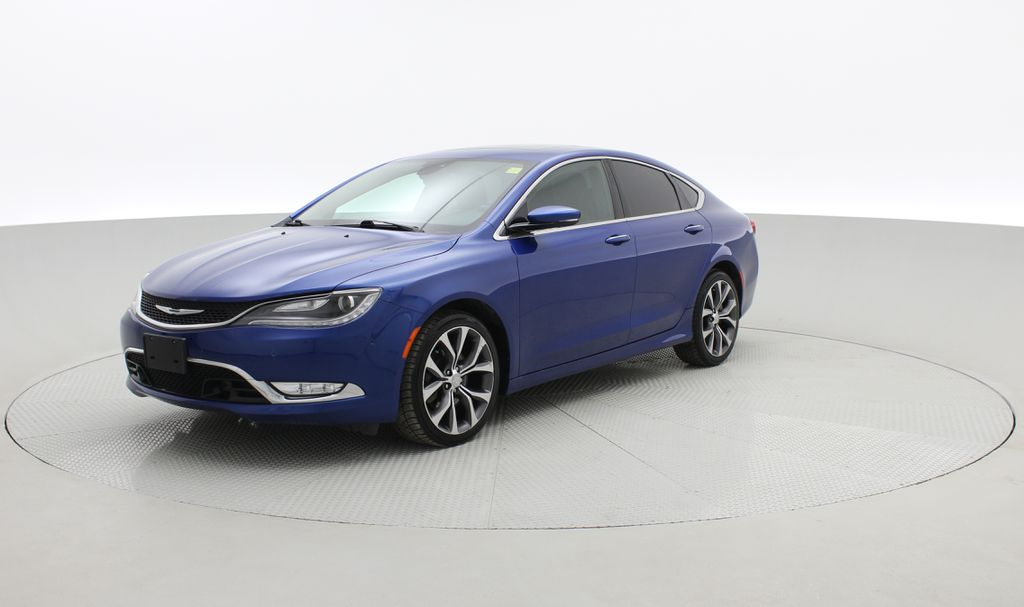 Blue[Vivid Blue Pearl] 2015 Chrysler 200 C - Leather, Panoramic Roof, Adaptive Cruise, SiriusXM Left Front Corner Photo in Winnipeg MB