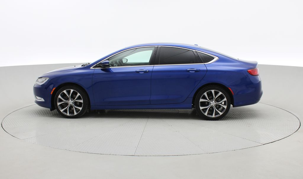 Blue[Vivid Blue Pearl] 2015 Chrysler 200 C - Leather, Panoramic Roof, Adaptive Cruise, SiriusXM Left Side Photo in Winnipeg MB