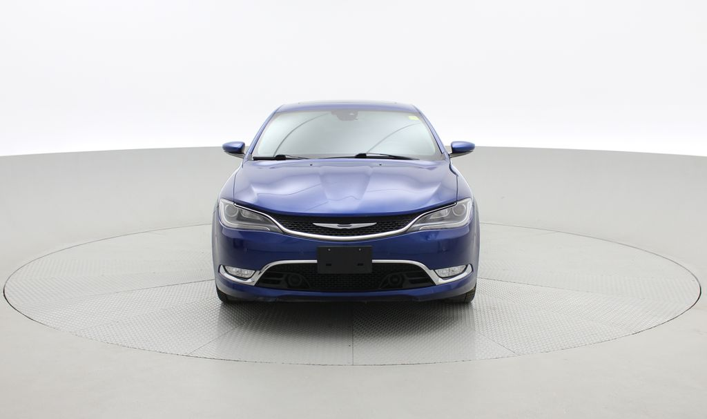 Blue[Vivid Blue Pearl] 2015 Chrysler 200 C - Leather, Panoramic Roof, Adaptive Cruise, SiriusXM Front Vehicle Photo in Winnipeg MB