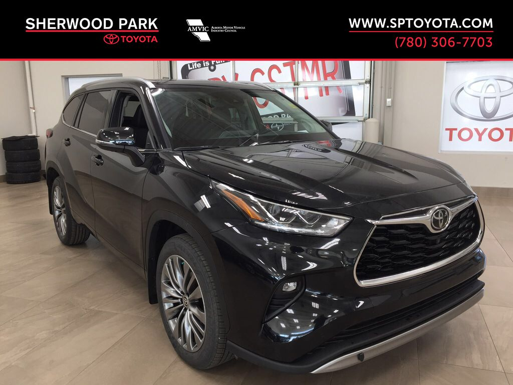 Black[Midnight Black Metallic] 2021 Toyota Highlander Platinum