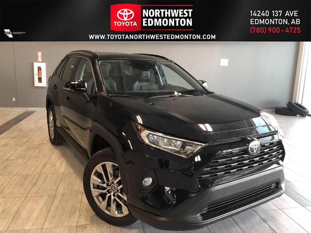 Midnight Black Metallic 2021 Toyota RAV4 XLE Premium
