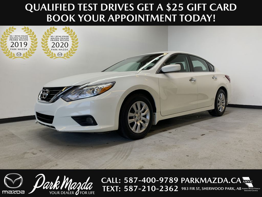 WHITE 2018 Nissan Altima SV - Remote Start, Heated Front Seats, Backup Camera