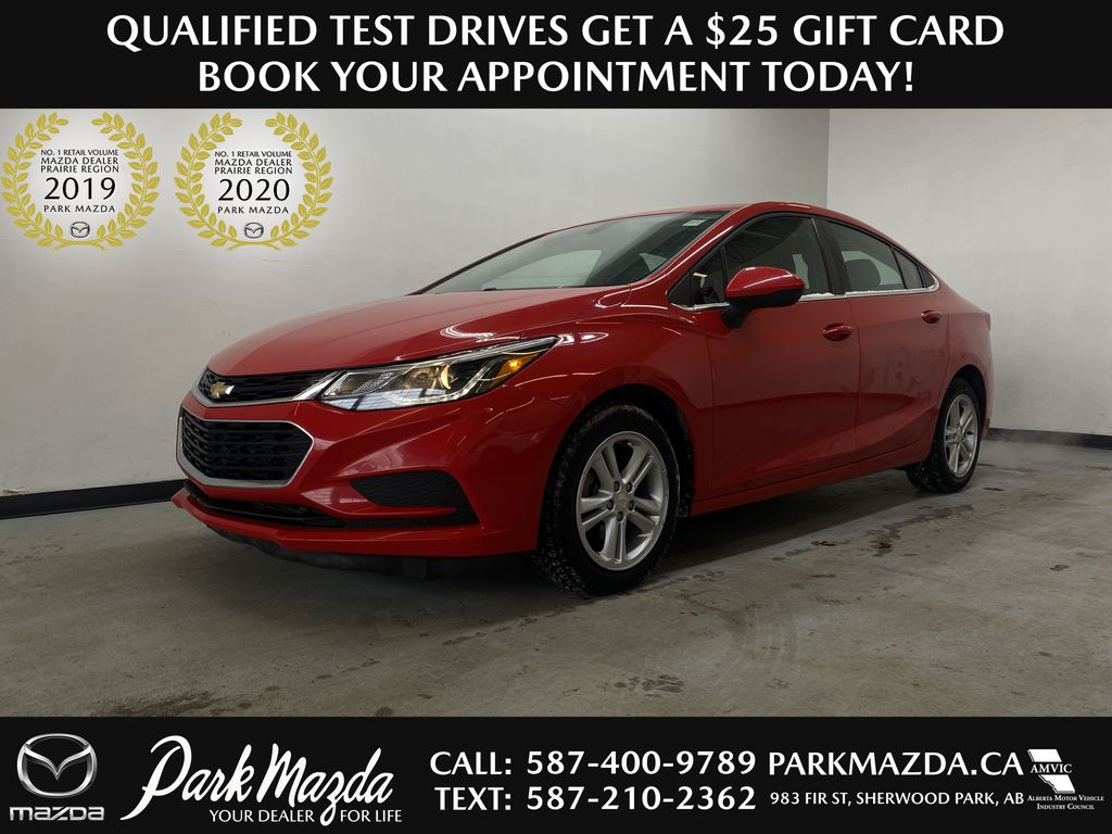 RED 2017 Chevrolet Cruze LT - Remote Start, Apple CarPlay, Backup Camera