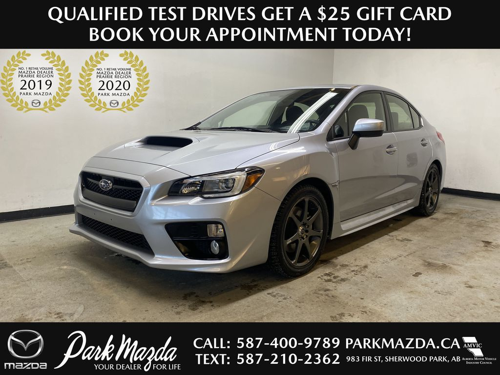 SILVER 2015 Subaru WRX 6-Speed Manual - Bluetooth, Backup Camera, Heated Seats