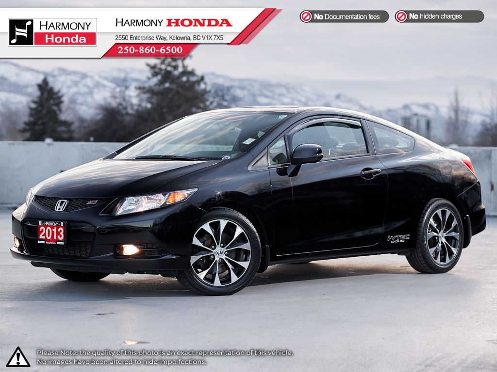 Black - Crystal Black Pearl 2013 Honda Civic Coupe