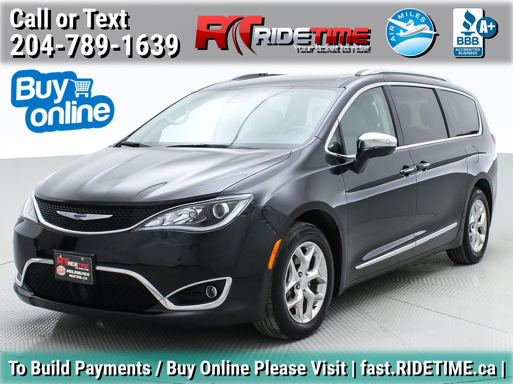 Black[Brilliant Black Crystal Pearl] 2018 Chrysler Pacifica Limited - Uconnect Theatre with Streaming Group