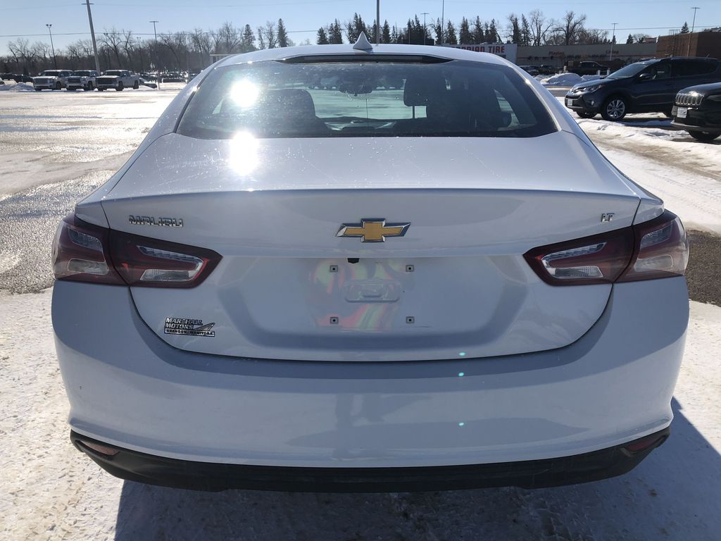 White 2019 Chevrolet Malibu 4dr Sdn LT w/1LT *Heated Seats*Remote Start*Back-Up Cam* Rear of Vehicle Photo in Brandon MB