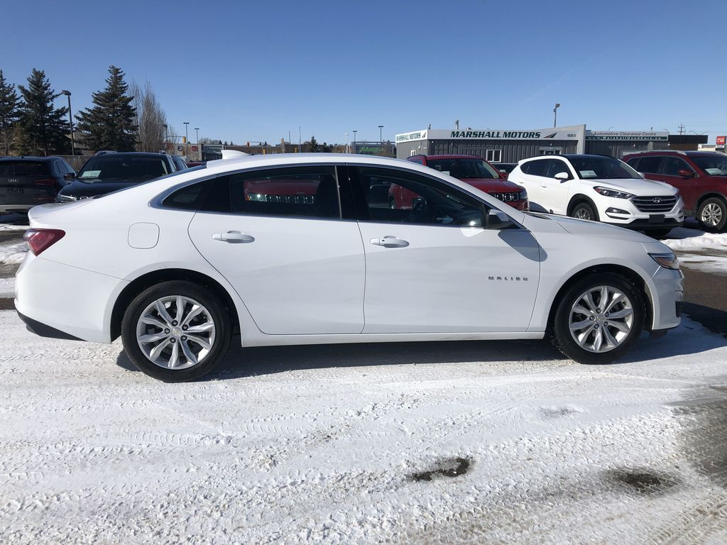 White 2019 Chevrolet Malibu 4dr Sdn LT w/1LT *Heated Seats*Remote Start*Back-Up Cam* Right Side Photo in Brandon MB