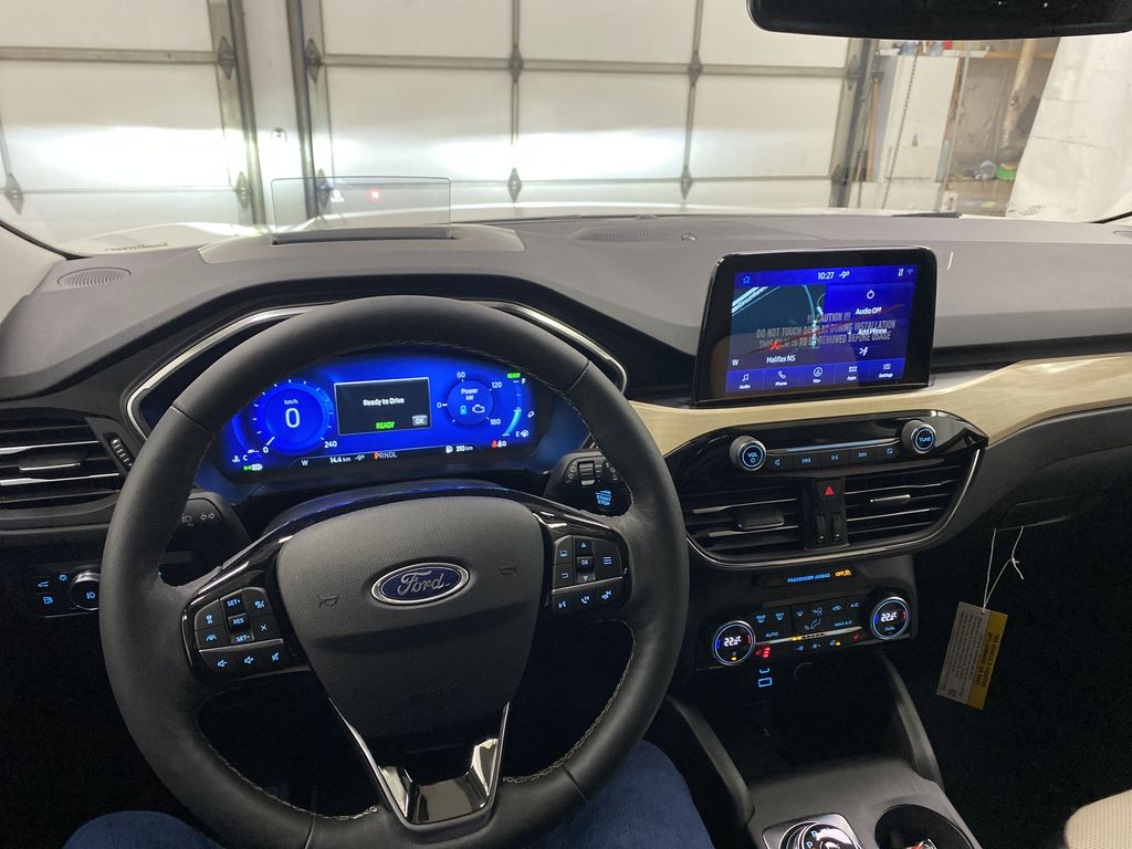 White[Star White Metallic Tri-Coat] 2021 Ford Escape Steering Wheel and Dash Photo in Dartmouth NS