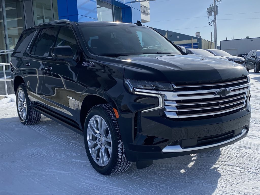 Black 2021 Chevrolet Tahoe Left Front Head Light / Bumper and Grill in Barrhead AB