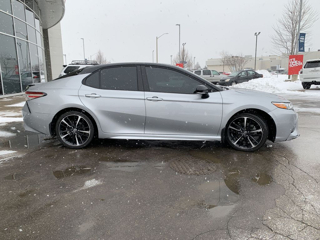 Silver[Celestial Silver Metallic w/Black Roof] 2020 Toyota Camry Front Vehicle Photo in Brampton ON