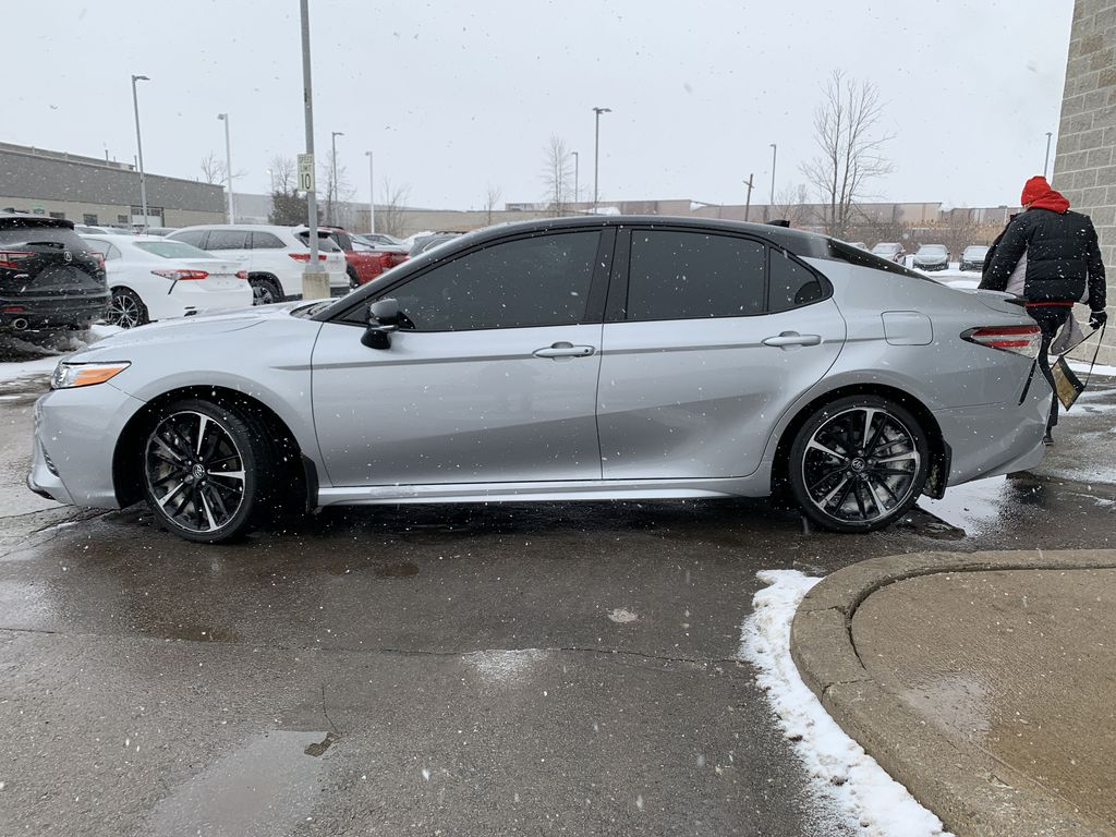 Silver[Celestial Silver Metallic w/Black Roof] 2020 Toyota Camry Left Front Rim and Tire Photo in Brampton ON