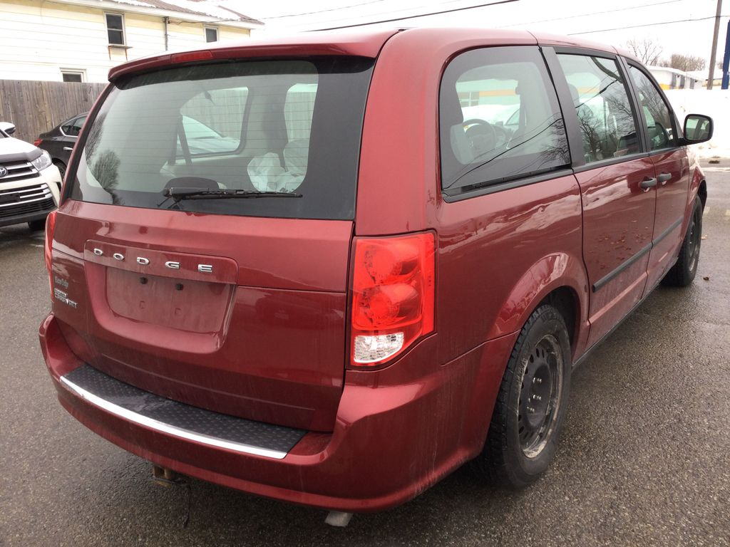 Red[Deep Cherry Red Crystal Pearl] 2016 Dodge Grand Caravan Right Rear Corner Photo in Brockville ON
