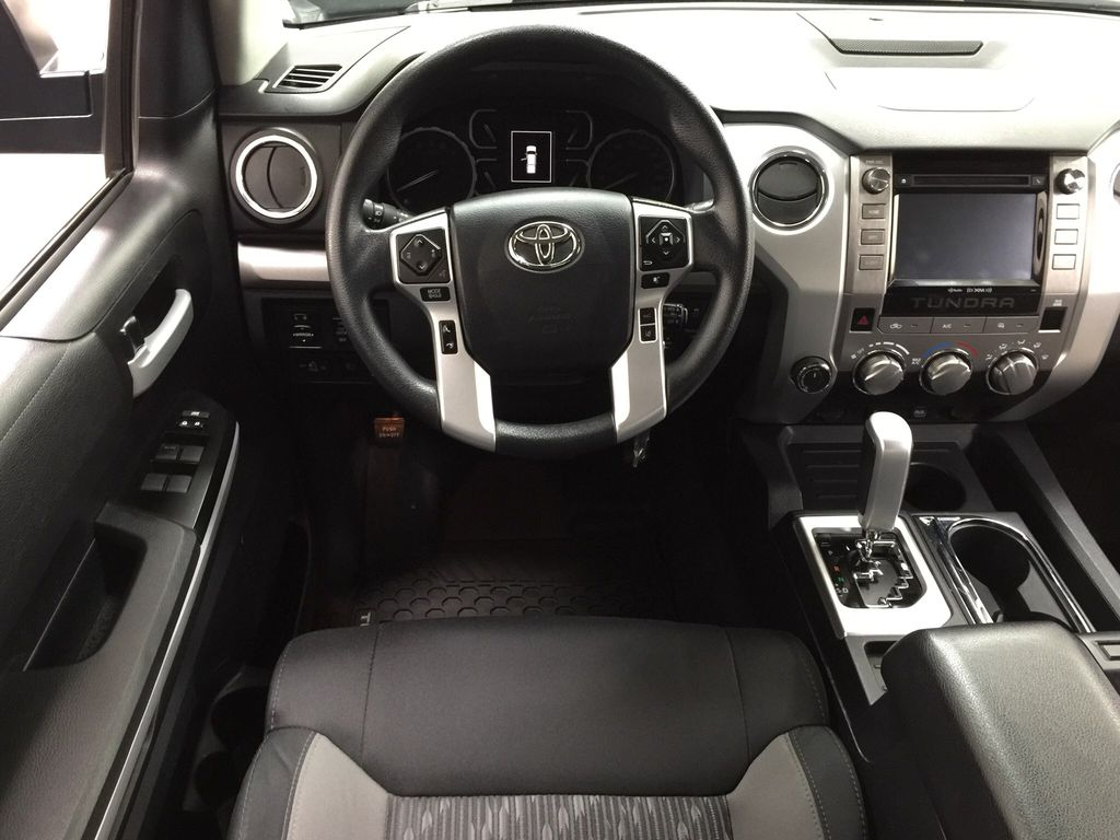 Black[Midnight Black Metallic] 2018 Toyota Tundra TRD Off-Road Double Cab 4WD Left Front Seat Photo in Sherwood Park AB