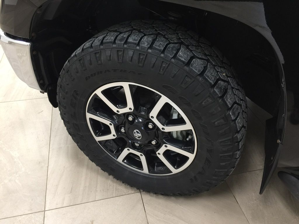 Black[Midnight Black Metallic] 2018 Toyota Tundra TRD Off-Road Double Cab 4WD Left Front Rim and Tire Photo in Sherwood Park AB