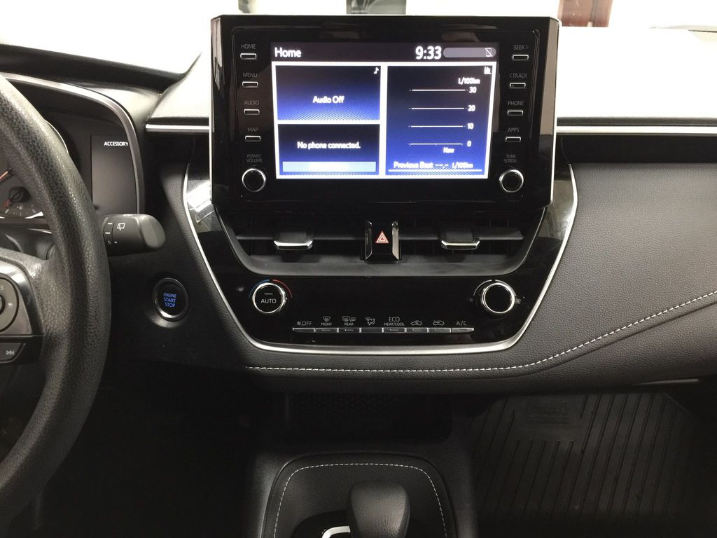 Silver[Classic Silver Metallic] 2019 Toyota Corolla Hatchback Central Dash Options Photo in Sherwood Park AB