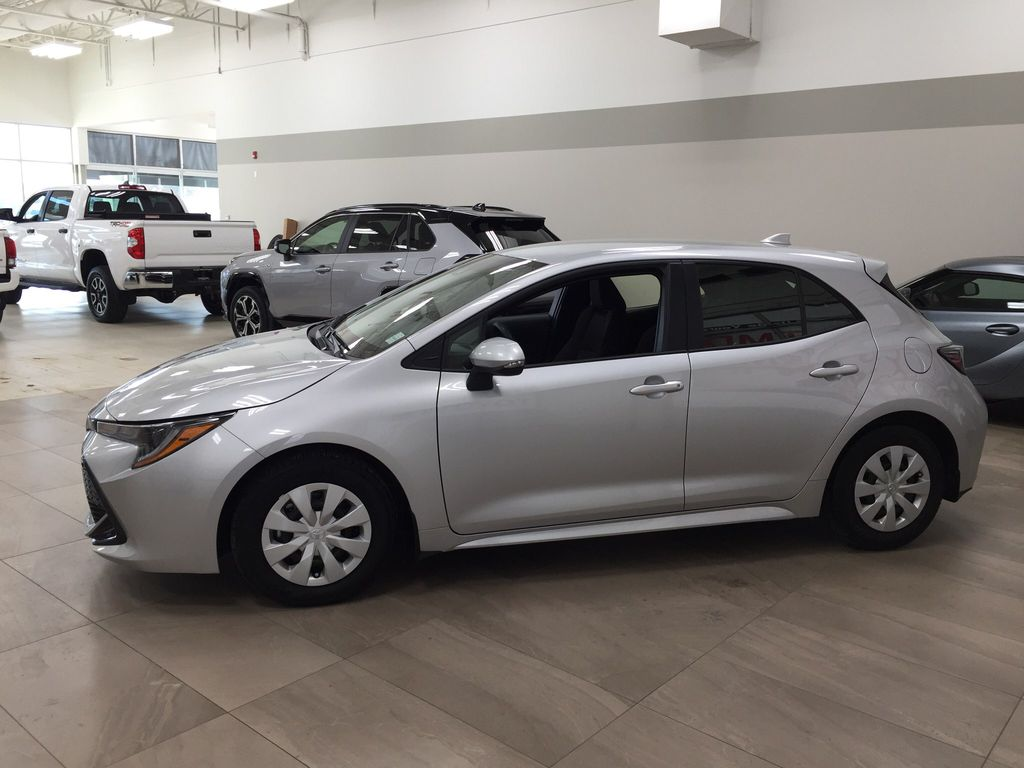 Silver[Classic Silver Metallic] 2019 Toyota Corolla Hatchback Left Side Photo in Sherwood Park AB