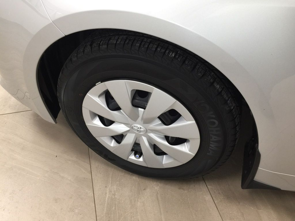 Silver[Classic Silver Metallic] 2019 Toyota Corolla Hatchback Left Front Rim and Tire Photo in Sherwood Park AB