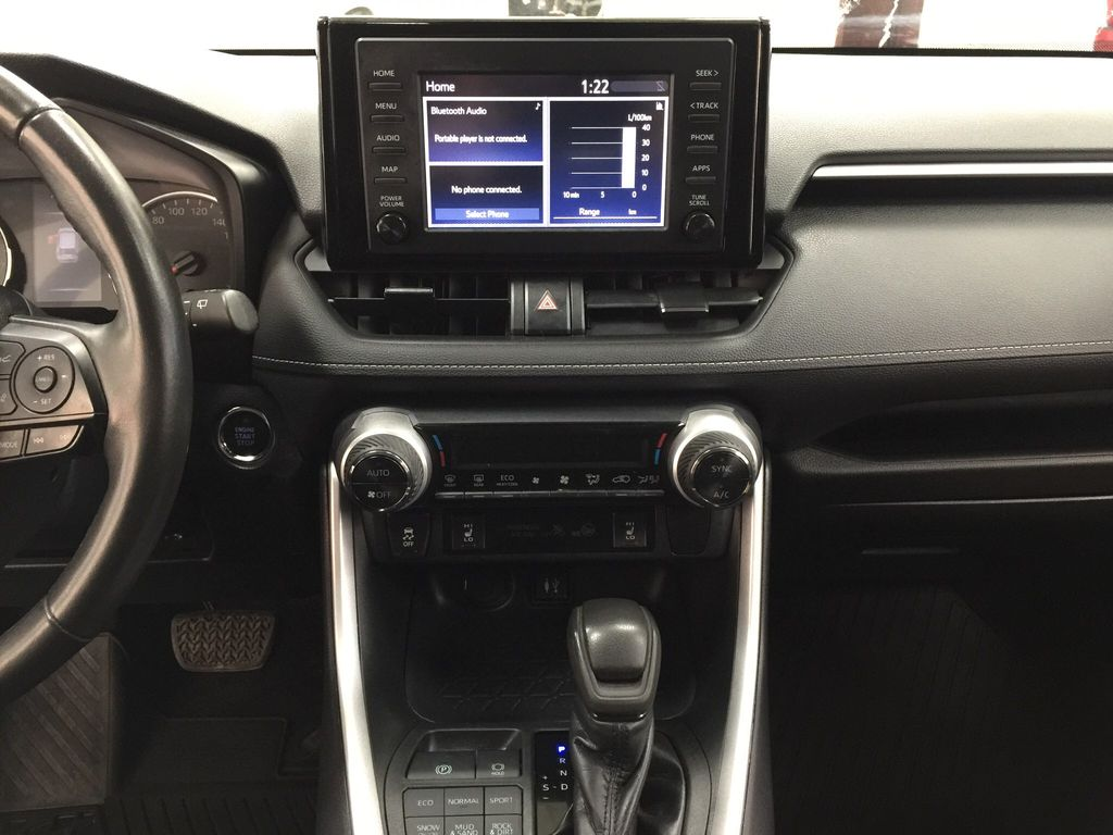 Black[Midnight Black Metallic] 2019 Toyota RAV4 XLE AWD Central Dash Options Photo in Sherwood Park AB