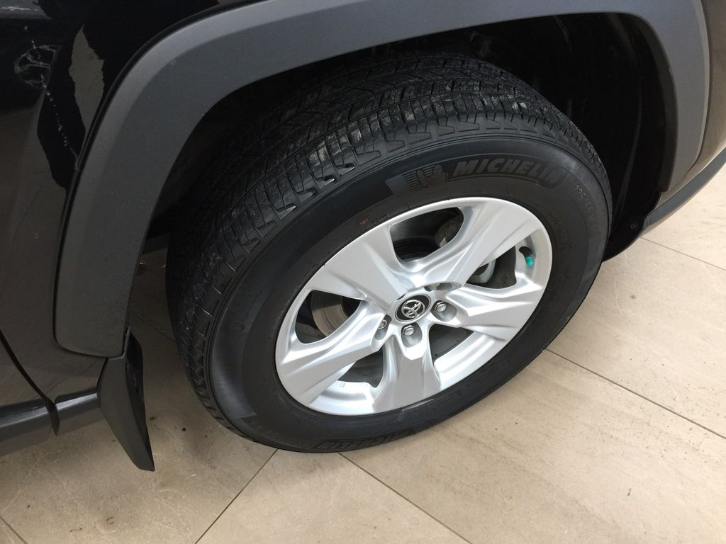 Black[Midnight Black Metallic] 2019 Toyota RAV4 XLE AWD Right Front Rim and Tire Photo in Sherwood Park AB
